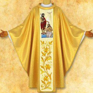 """Ornat z wizerunkiem haftowanym """"Chrzest Jezusa"""""""