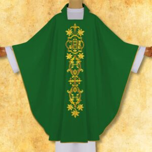 "Chasuble ricamato ""IHS in frame"""