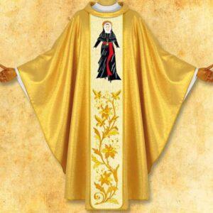 """Ornat z wizerunkiem haftowanym """"Św. Maria de Matias"""""""