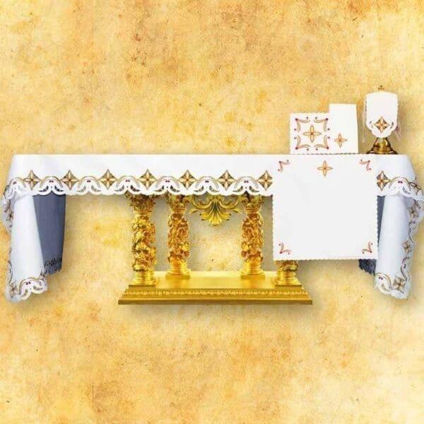 Obrus haftowany Krzyże w Kwadracie-Kolorowe