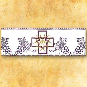 """Koronka haftowana """"Krzyże z Cierniami"""""""