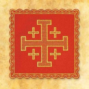 Palka haftowana czerwona nr 1