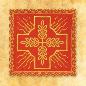 Palka haftowana czerwona nr 4