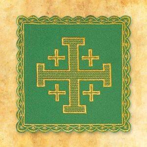 Palka haftowana zielona nr 13
