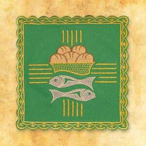 Palka haftowana zielona nr 16