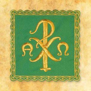 Palka haftowana zielona nr 17