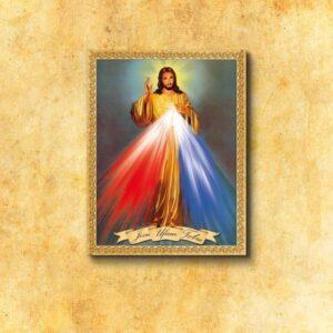 """Obraz na tkaninie """"Jezus Miłosierny"""""""