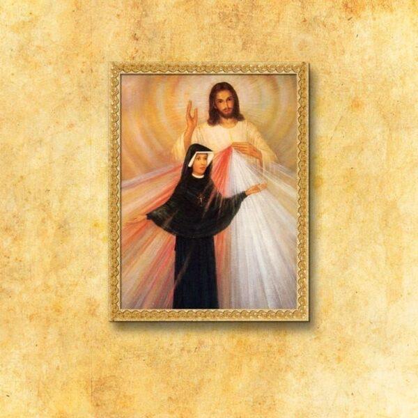 """Obraz """"Jezus Miłosierny i Św. Faustyna"""""""
