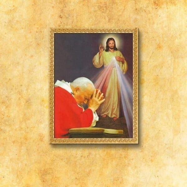 """Obraz """"Św. Jan Paweł II i Jezus Miłosierny"""""""