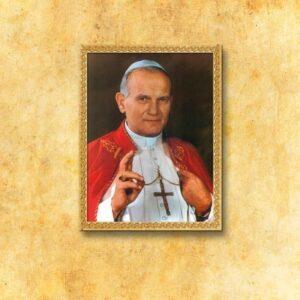"""Obraz na tkaninie """"Św. Jan Paweł II"""""""