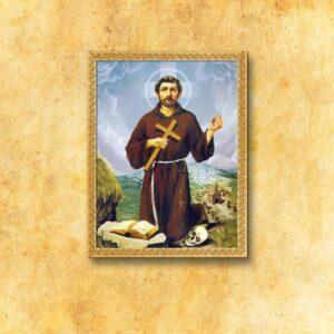 """Obraz na tkaninie """"Św. Franciszek"""""""