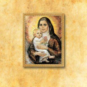 """Obraz na tkaninie """"Św. Teresa od Dzieciątka Jezus"""""""