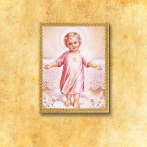 """Obraz na tkaninie """"Dzieciątko Jezus"""""""