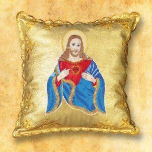 """Poduszka procesyjna  """"Jezus w niebieskiej szacie"""""""