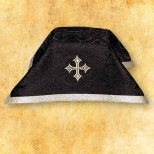 Welon na kielich czarny ze srebrną taśmą ozdobną