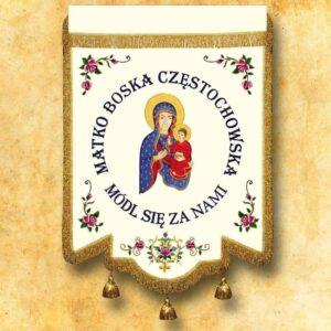 Chorągiew haftowana – MB Częstochowska