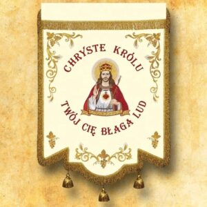 Chorągiew haftowana – Chrystus Król