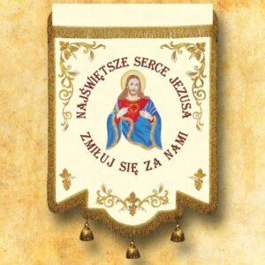 Chorągiew haftowana – Serce Jezusa