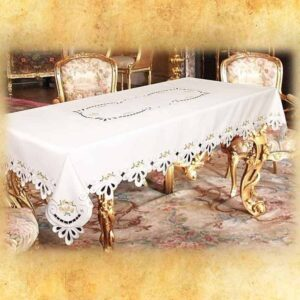 "Embroidered ""Margaret Maxi"" tablecloth"