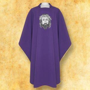 """Ornat haftowany """"Jezus w koronie cierniowej"""""""