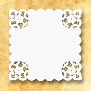 """Serwetka """"Bianco Fiori"""" 45×45"""
