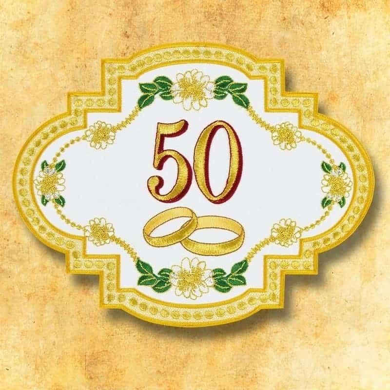 Applicazione 50 Anniversario Di Matrimonio Ricamo Urbanowicz