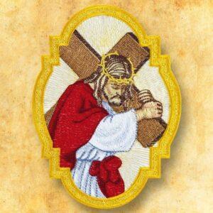 """Aplikacja haftowana """"Jezus z Krzyżem"""""""