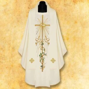 "Chasuble embroidered Wedding ""Primavera"""