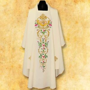 "Chasuble embroidered Wedding ""IHS"""