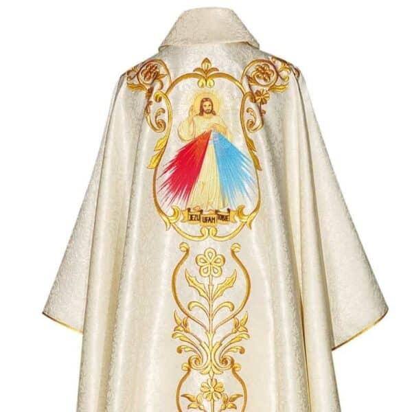 """Ornat haftowany """"Św. Jan Pawł II i Jezus Miłosierny"""""""