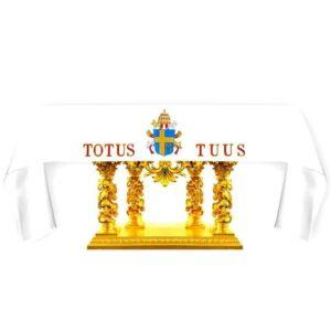 "Obrus haftowany ""Totus Tuus"""