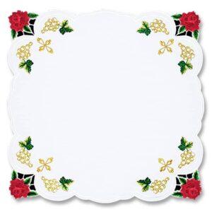 "Serwetka haftowana ""Róże"" 45×45"