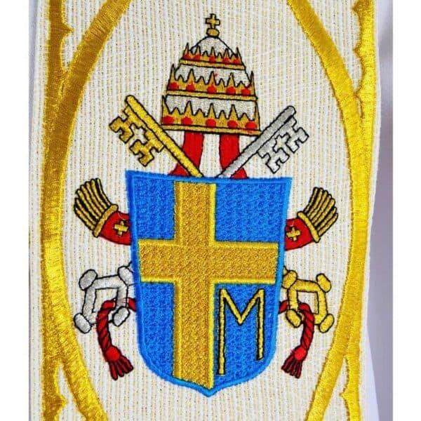 """Stuła haftowana z wizerunkiem """"Św. Jana Pawła II"""""""
