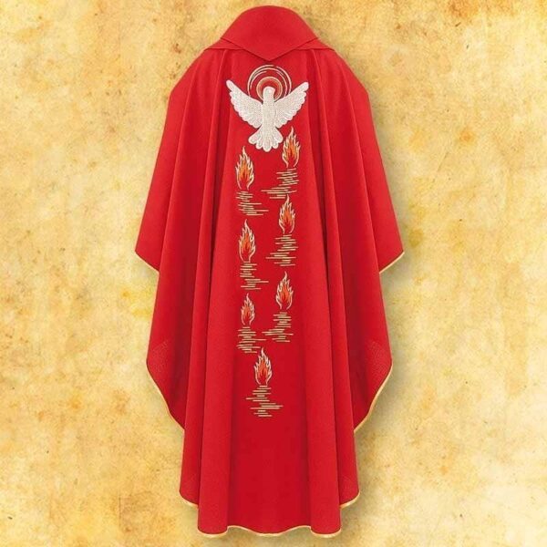 "Chasuble embroidered ""Holy Spirit"""
