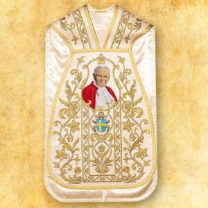 Roman chasuble with the image of Saint John Paul II
