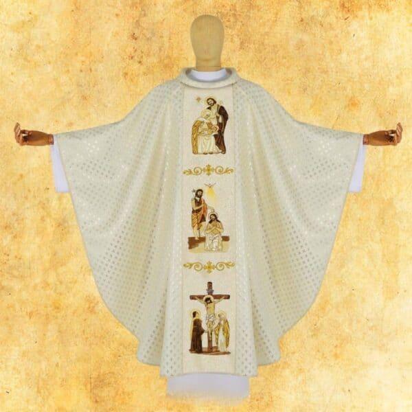 Ornat haftowany Sceny z życia Jezusa