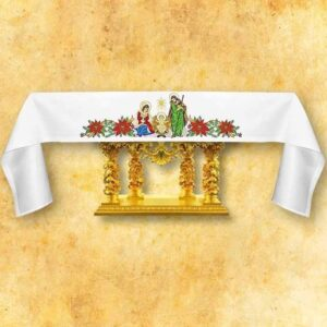 "Embroidered tablecloth ""Holy Family"""