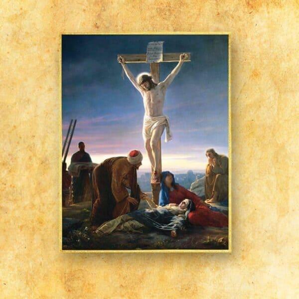 Ozdoba liturgiczna duża Śmierć Jezusa (fotograficzna)