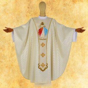 """Ornat haftowany """"Jezus Miłosierny"""""""
