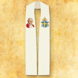"""Stuła haftowana """"Św. Jana Pawła II"""""""