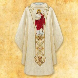 "Chasuble Embroidered ""Jesus The Good Shepherd"""