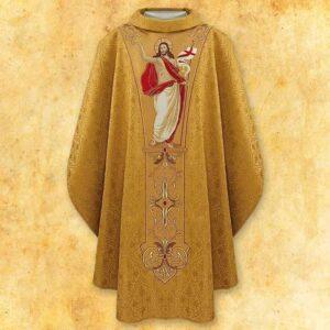 """Ornat haftowany """"Jezus Zmartywchwstały"""""""