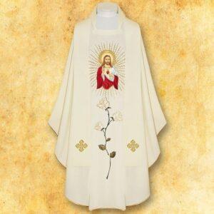 "Ornat haftowany ""Serce Jezusa"""