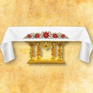 """Obrus haftowany """"Święta Rodzina"""" - na boczne ołtarze 346x101"""