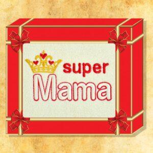 """Ręcznik haftowany """"Super Mama"""""""