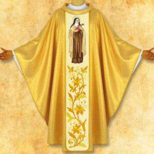 """Ornat z wizerunkiem haftowanym """"Św. Teresa od Dzieciątka Jezus"""""""