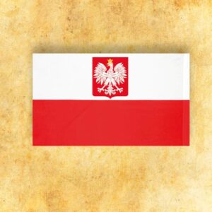 Flaga Biało-Czerwona z Godłem