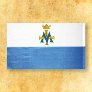 """Flaga Biało-Niebieska z """"M"""""""