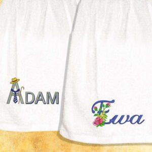 Ręcznik haftowany dla Pań i Panów z imieniem