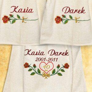 Komplet ręczników na rocznicę ślubu
